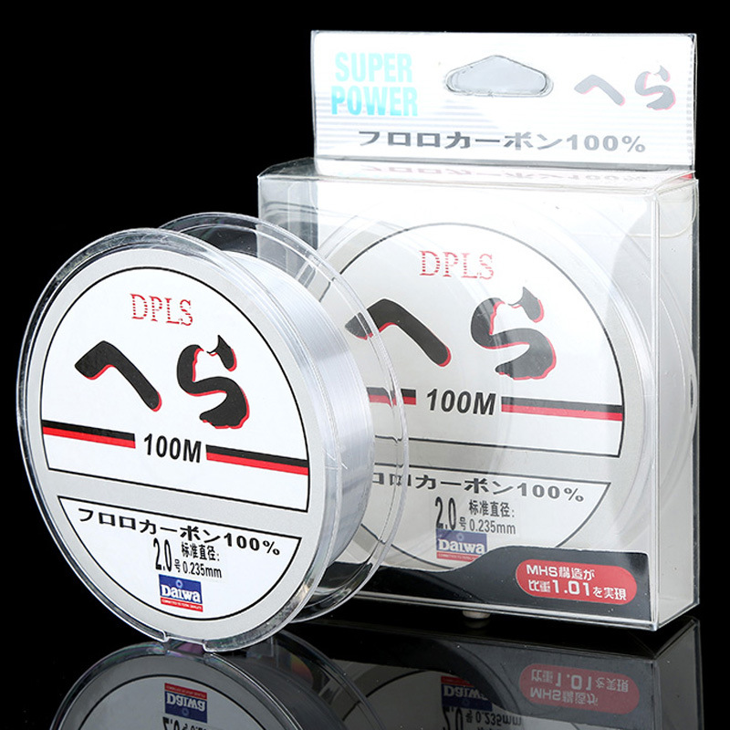 Superior Quality 100M Fluorocarbon Fishing Line Clear 4-32LB Carbon Fiber Leader Line Fly Fishing Line Pesca