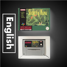 Secret of Mana ahorro de batería, tarjeta de juego, versión europea, RPG, con caja de venta al por menor