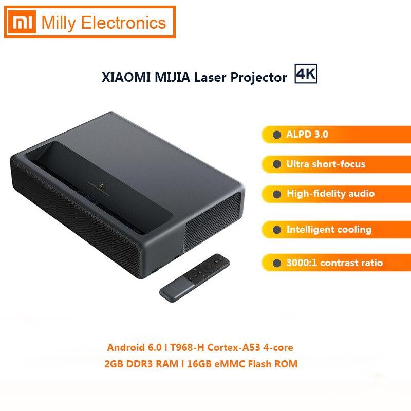 Лазерный проектор Xiaomi Mijia 4K, 2 Гб ОЗУ 16 Гб ПЗУ, ALPD 3,0, Android 6,0, 3D, 3840x2160, 150 дюймов, 5000 лм, домашний кинотеатр