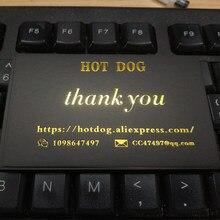 Logotipo personalizado, tarjeta de visita de papel de aluminio dorado, tarjeta de nombre, logotipo de estampado en caliente, tarjeta de agradecimiento, 300g