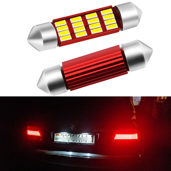 2pcs C5W LED Car Festoon Bulbs 36mm Canbus License Number Plate Light For BMW 3 5 series E36 E46 E34 E39 E60 X5 E53(00-07) M5 image
