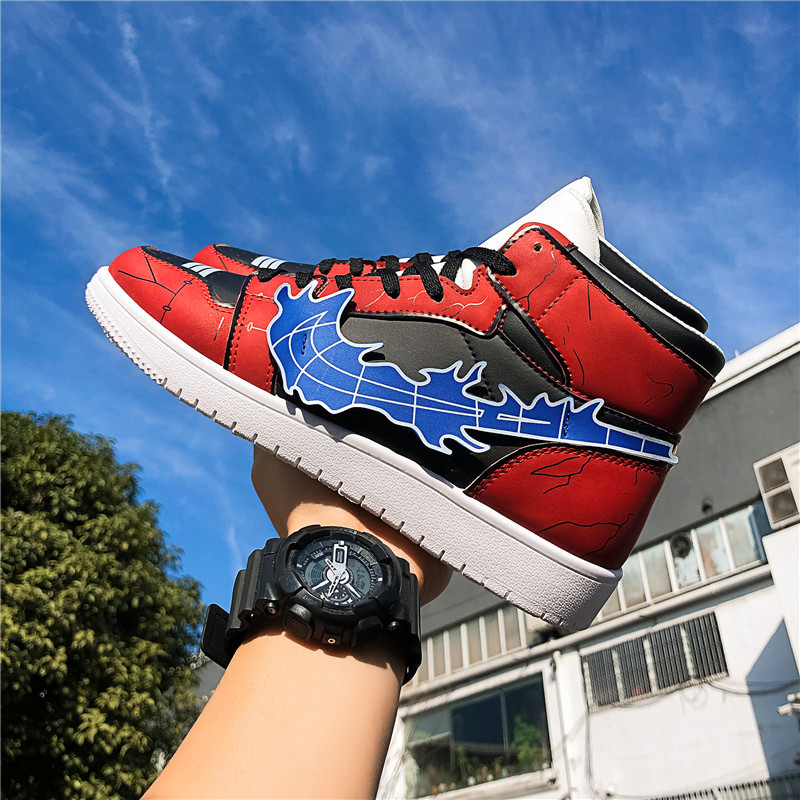 Basketball Shoes Men Sports Shoes High Tops Anime Naruto Mens Basketball Sneakers Basket Shoes Men Casual Sneakers