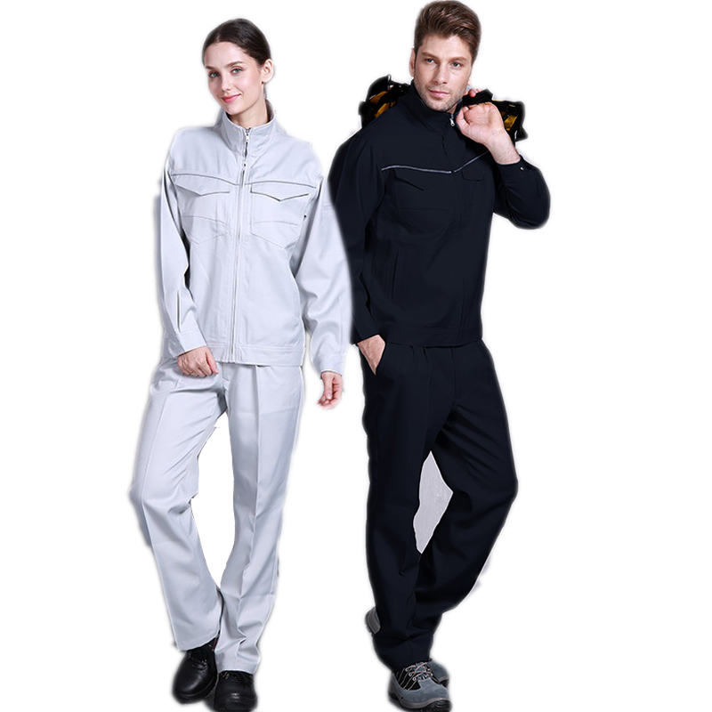 Work Clothing Set Jacket+ Pants Welding Suit Work Uniform Waterproof Wear-resistant Labor Japan Worker Oil Resistant Coveralls