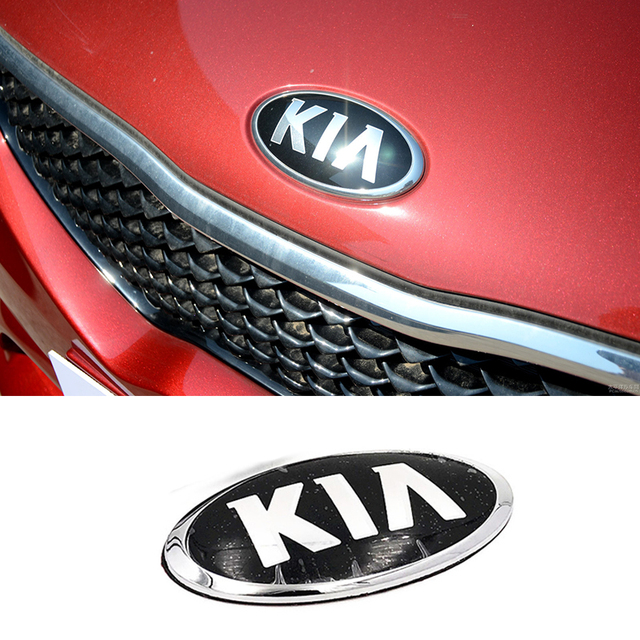 ABS Alloy Chrome Sticker for KIA K4 K5 K2 K3 KX3 Cerato Forte Auto Grille Front Trunk Tailgate Emblem Exterior Modification 1
