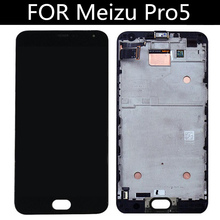 """5.7"""" LCD For Meizu Pro5 LCD Display+Touch Panel Digitizer With Frame For Meizu Pro 5 Lcd Display  Accessories Replacement 5pcs lot lcd display touch panel for mann zug 5 zug5 zug5s 100"""