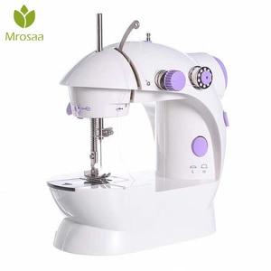 2019 110/220V Mini Portable Handheld Sewing Machines Stitch Sew Needlework Cordless Clothes Fabrics DIY Electrec Sewing Machine(China)