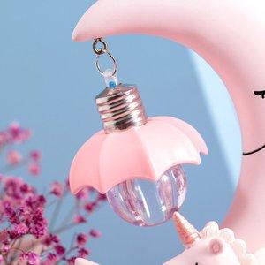 Image 3 - שרף ירח Unicorn LED לילה אור קריקטורה תינוק משתלת מנורת נשימה ילדי צעצוע מתנה לחג המולד ילדים חדר מלאכת שולחן אור