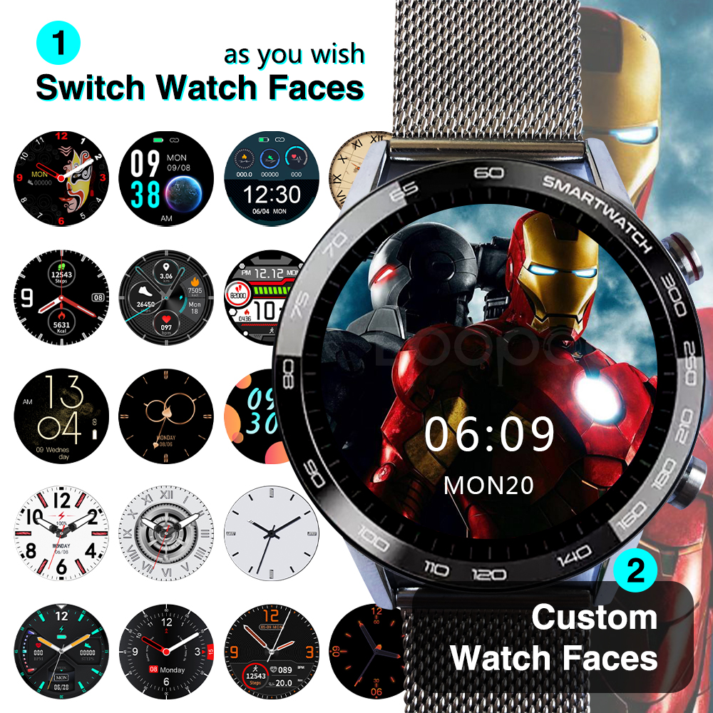 DIY watchfaces Smart Watch 360 360 HD IPS screen Smartwatch ECG IP68 Fitness Tracker expert sport Smart watch for men women