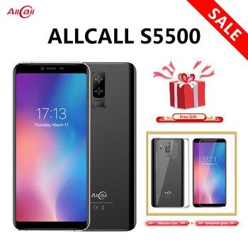 Перейти на Алиэкспресс и купить Allcall S5500 смартфон с 5,99-дюймовым дисплеем, четырёхъядерным процессором MTK6580M, ОЗУ 2 Гб, ПЗУ 16 Гб, Android 8,1, 18:9 5500 мАч