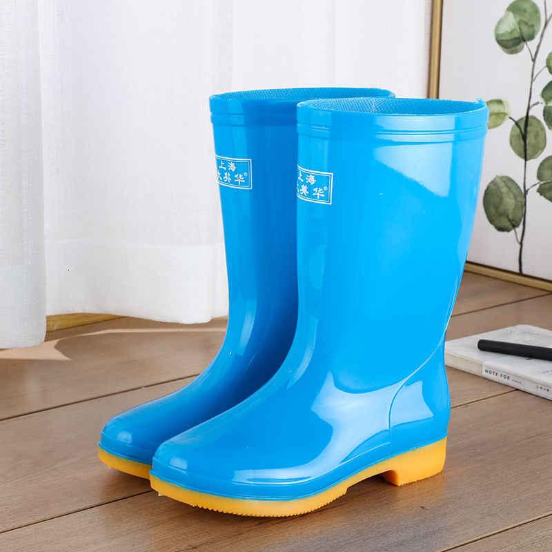 Frauen Mid-Kalb Regen Boot Damen Wasserdichte Gummi Kniehohe Stiefel Outdoor Schuhe Weibliche Winter Pelz Warme Hohe Qualität regen Stiefel