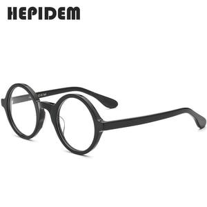 Image 4 - Acétate optique lunettes cadre hommes nouveau rétro Vintage rond lunettes de vue femmes lunettes homme femme optique Nerd lunettes Zolman
