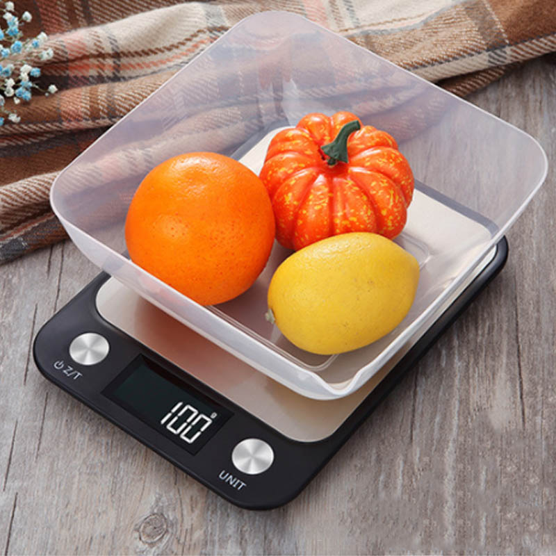 5Kg/10Kg 1g Weigh Tools Digital Kitchen Scale Food Baking Scale Stainless Steel High Accurate 1Pcs Cooking Accessories