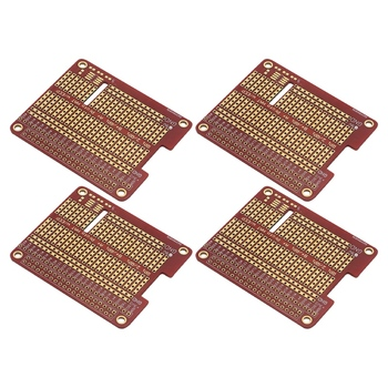4Pcs DIY Prototype Hat Shield Extension Board for Raspberry Gpio Board with Screws for Raspberry Pi 3/2 Model B+