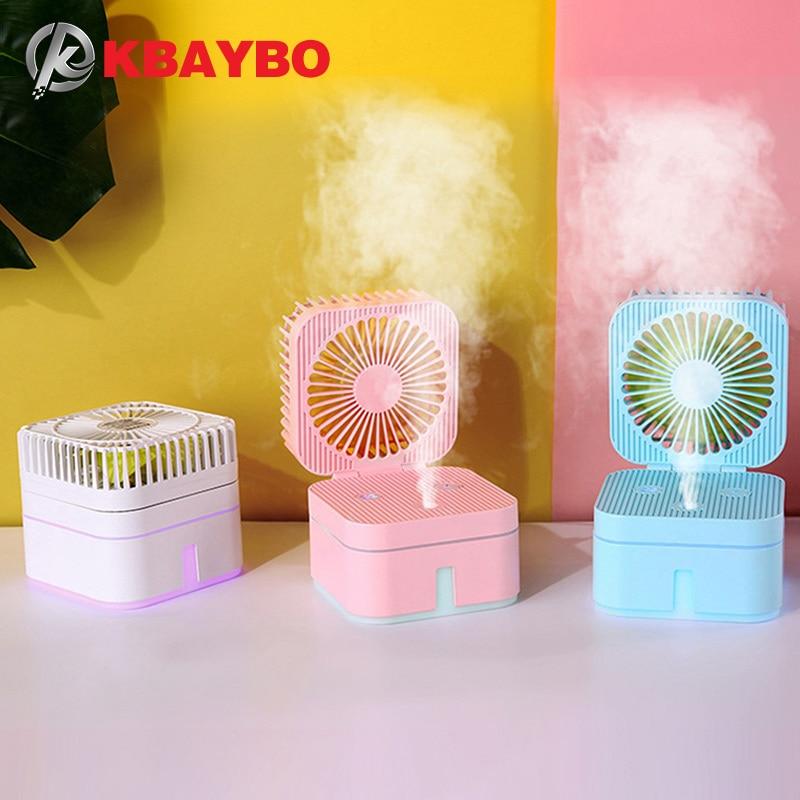 Recargable KBAYBO Mini humidificador humidificador de ventilador USB Combo combinado para escritorios, oficina hogar y