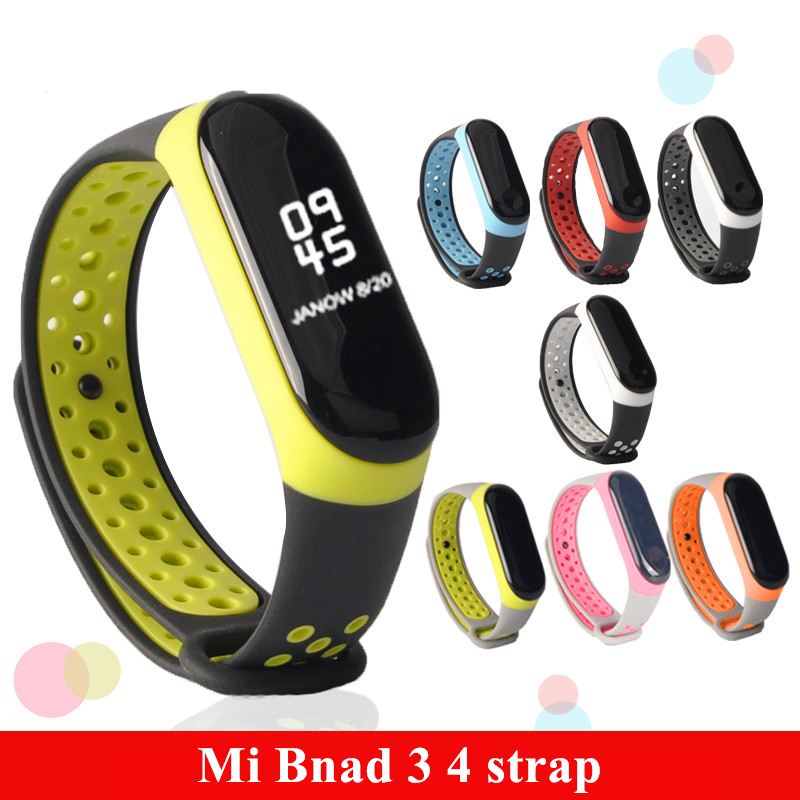 For Mi Band 3 4 strap sport Silicone watch wrist Bracelet miband3 strap accessories bracelet smart