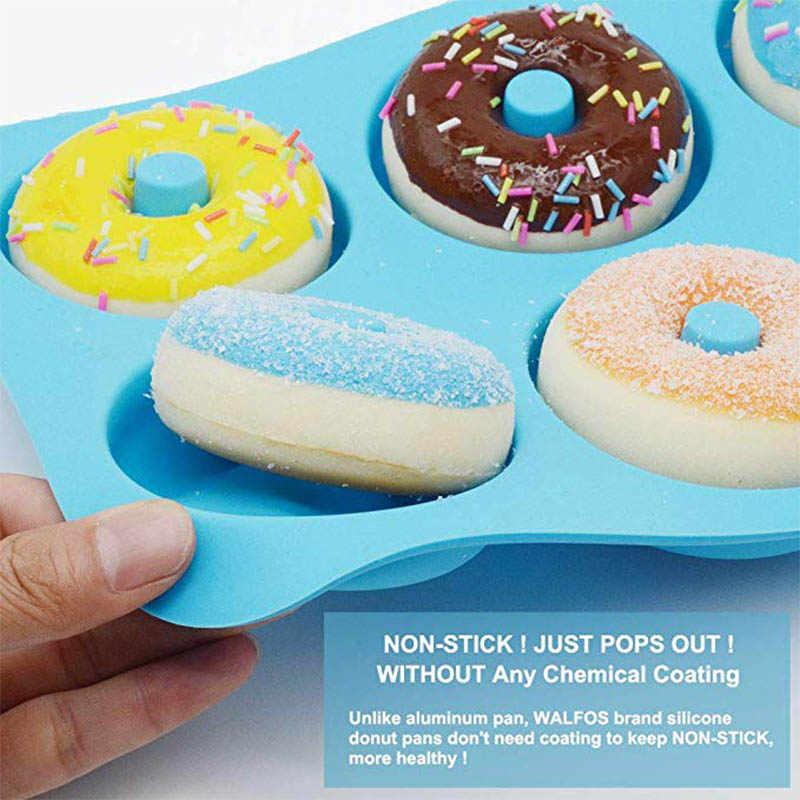 6 Gaten Donuts Schimmel Van Siliconen Ronde Vorm Donuts Mold Bakken Jelly Fondant Mold Chocolate Cake Decorating Koken Tool Pastry