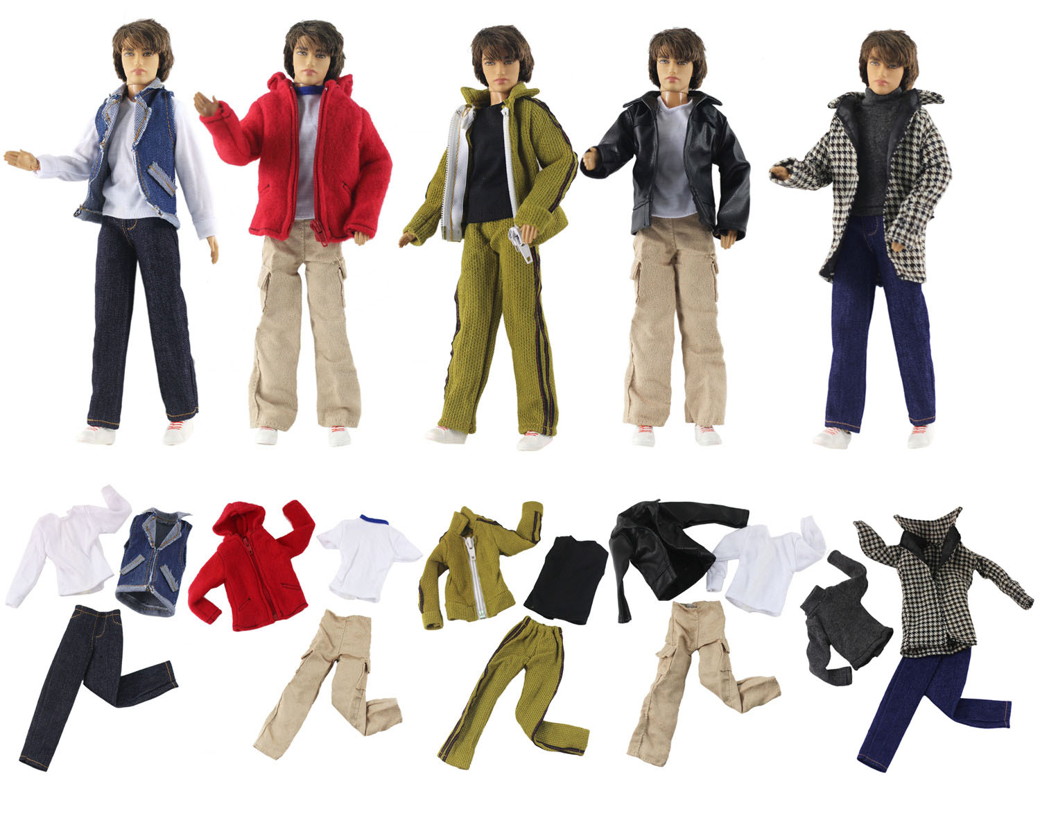 1 Set Doll Clothes Outfit For 12 Inch Ken Doll Many Style For Choice A01