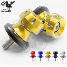 universal 6MM 8MM CNC M8 M6 moto swing arm spools slider for yamaha R25 Z3 R3 R6 motorcycle swingarm spool stand screw