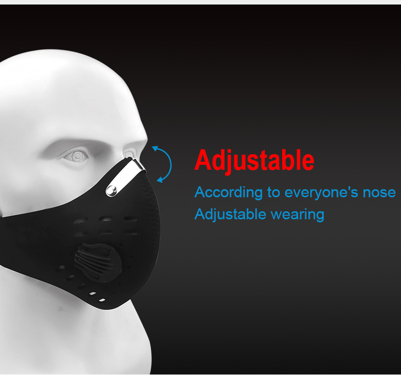 H04b356343d324942ab8ad47e32cf29dfd X-Tiger Pro Cycling Face Mask With Filters Breathable Cycling Mask Activated Carbon Anti-Pollution Sport Training Bike Facemask