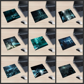 XGZ Laptop Technology Square Mouse Pad Future Urban Car Motorcycle PC Mat Colorful Light Night Scene Rubber Anti-skid Universal image