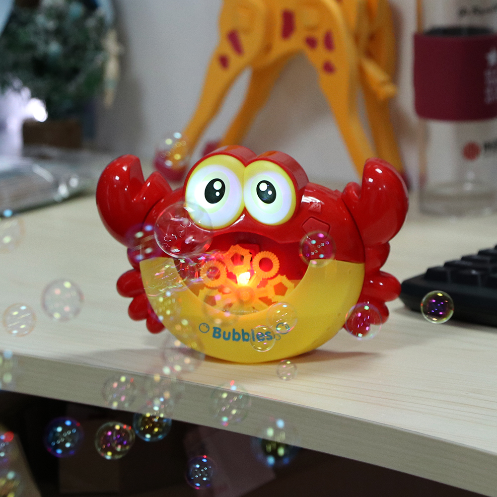 Bubble Crabs Music Cartoon Kids Bathroom Bathtub Toy Machine Bubble Crabs Funny Music Baby Bath Toy Bubble Children Soap Machine