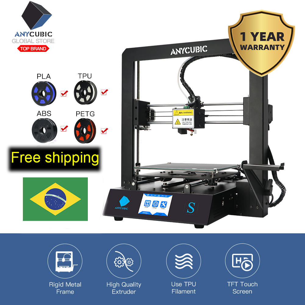Anycubic 3d-Color-Printer-Kit Touch-Screen Mega-Upgrade DIY I3 TPU High-Precision Impressora title=