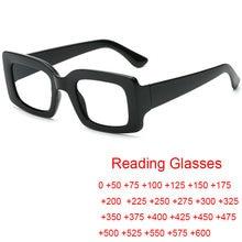 Anti Blau Licht Rechteck Lesebrille Frauen Vintage Luxus Platz Transparente Presbyopie Brille Brillen Dioptors 0 zu 6