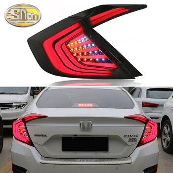 For Honda Civic 10th 2016 2017 2018 Car Tail lights Taillight Rear Lamp Turning+Reversing+Fog+Brake light&Moving lamp