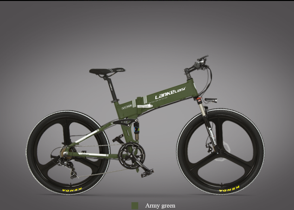 2020 China  LANKELEISI  26 inch bike electric mountain 27 Speeds Hydraulic Suspension Fork 250W 48V 10Ah Lithium Baterry 2