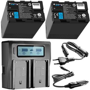 Image 1 - 2pcs BP U65 BP U60 BP U30 BP U90 Battery USB +D tap + dual fast charger For Sony PMW 150P XDCAM EX HD422 PHU 60K PXW Z450 Z190