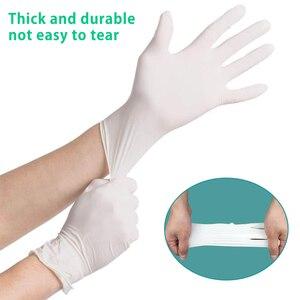 Image 2 - 100 sztuk/partia jednorazowe lateksowe rękawice ochronne antypoślizgowe rękawice lateksowe gumowe lateksowe rękawice do czyszczenia gospodarstwa domowego