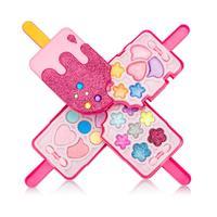 Косметический игровой набор принцессы для девочек, палитра с зеркалом, моющийся и не токсичный мягкий комплект для макияжа для детей, подар...