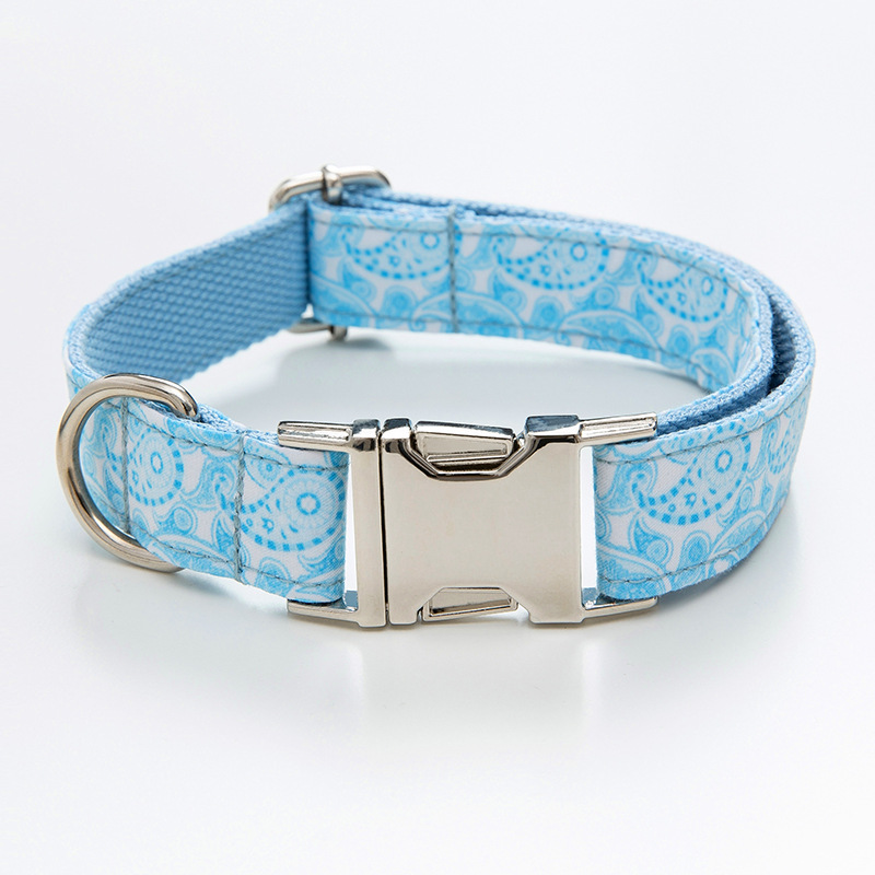 Paisley Pet Collar Zinc Alloy Buckle Lettering Dog Neck Ring Pet Supplies Dog Collar