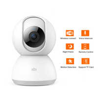 Original work with mijia mihome appSmart Camera Webcam 1080P WiFi Pan-tilt Night Vision 360 Angle Video Camera view Baby Monitor