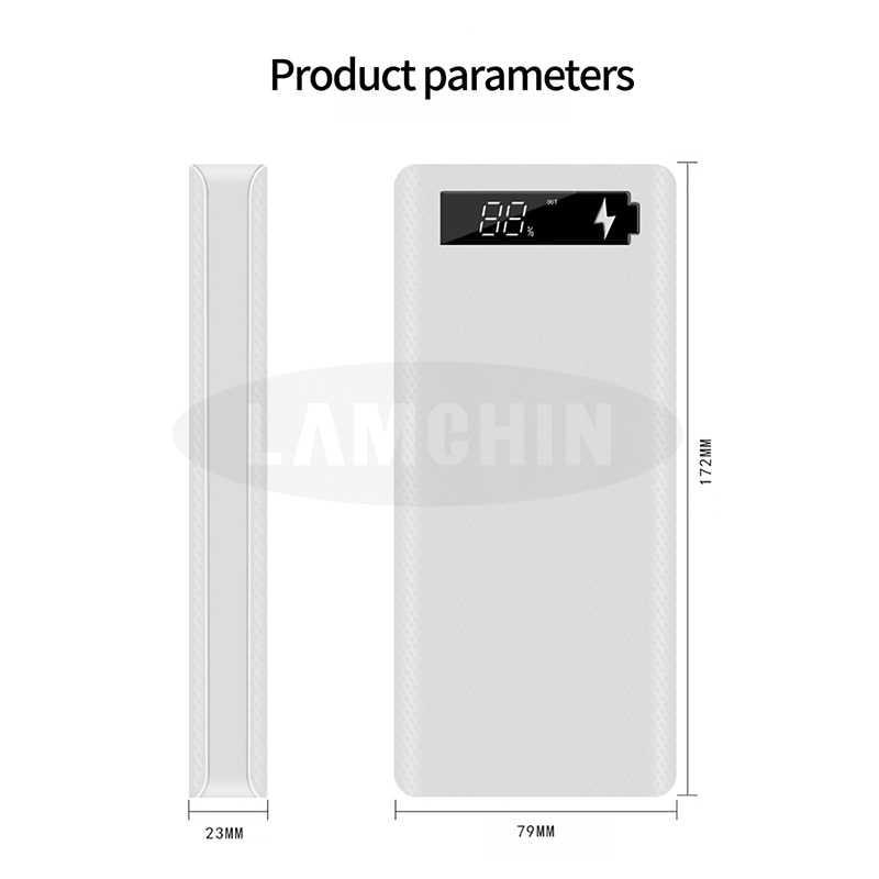 8*18650 çift usb güç bankası pil kutusu kabuk 5 V/2A 10W hızlı şarj DIY şarj iphone için kılıf ile Samsung paket
