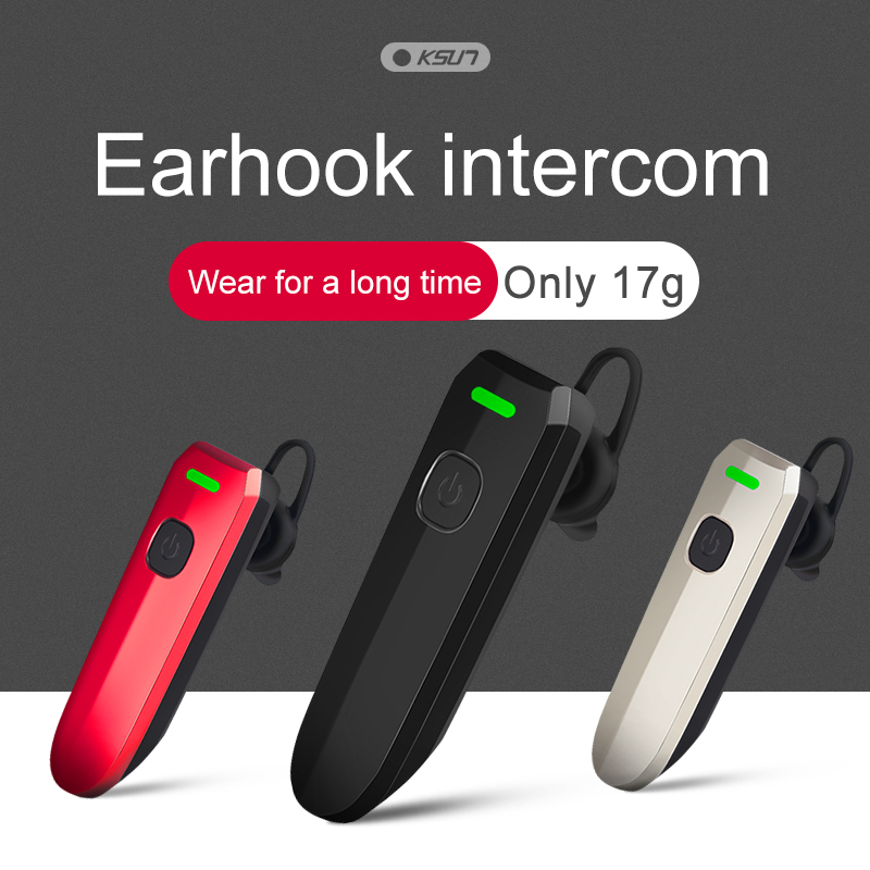 KSUN X-V30 Bluetooth Headset Walkie Talkie Wireless Call Outdoor In-Ear Mini Intercom