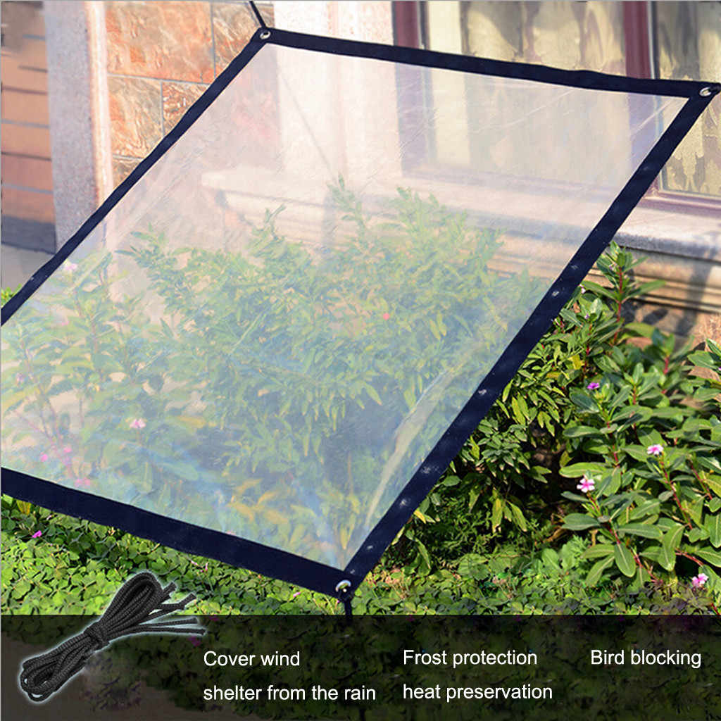 clear waterproof cover tarp dustproof rainproof tarpaulin ground sheet cover outdoor garden beach camping patio pool sun shelter