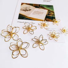 Wire Earring Accessories Metal Pendant Eardrop Components Necklace Charms Diy Making Material Jewelry Finding 8pcs geometric earring accessories star metal pendant eardrop components necklace charms diy making material jewelry finding 6pcs