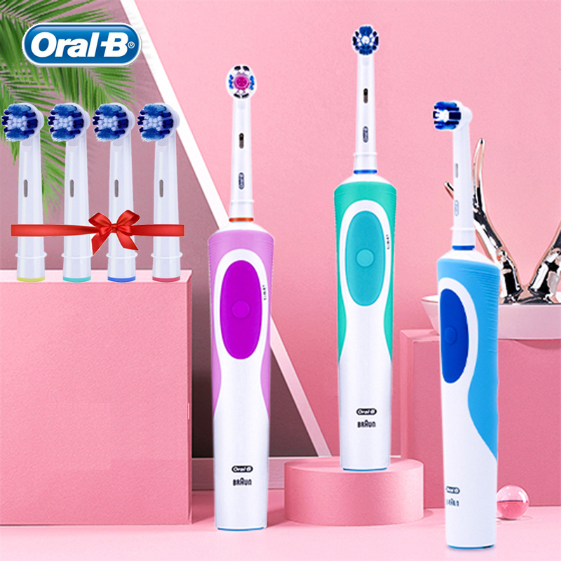 Oral B Vitality Electric Toothbrush Rotating Rechargeable Automatic Timer 1 Toothbrush Handle 1 Brush Head Pro 500 Series Braun image