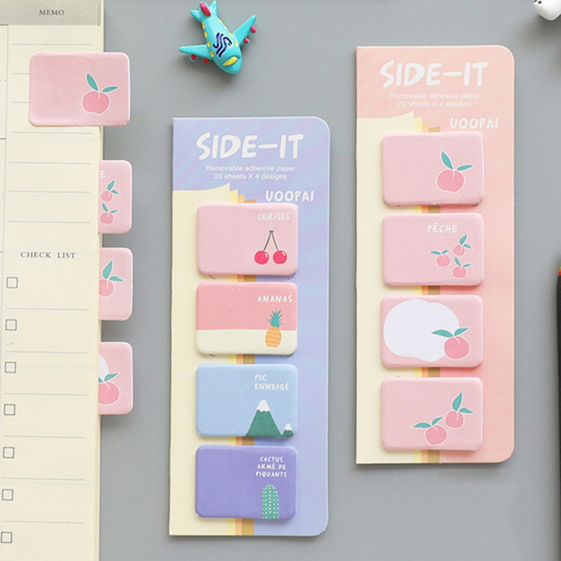 Student Colorful Fresh Simple Notebook Bookmark Cute Cartoon Sticky Notes Sticker Home School Marker Index Pad Tab Memo