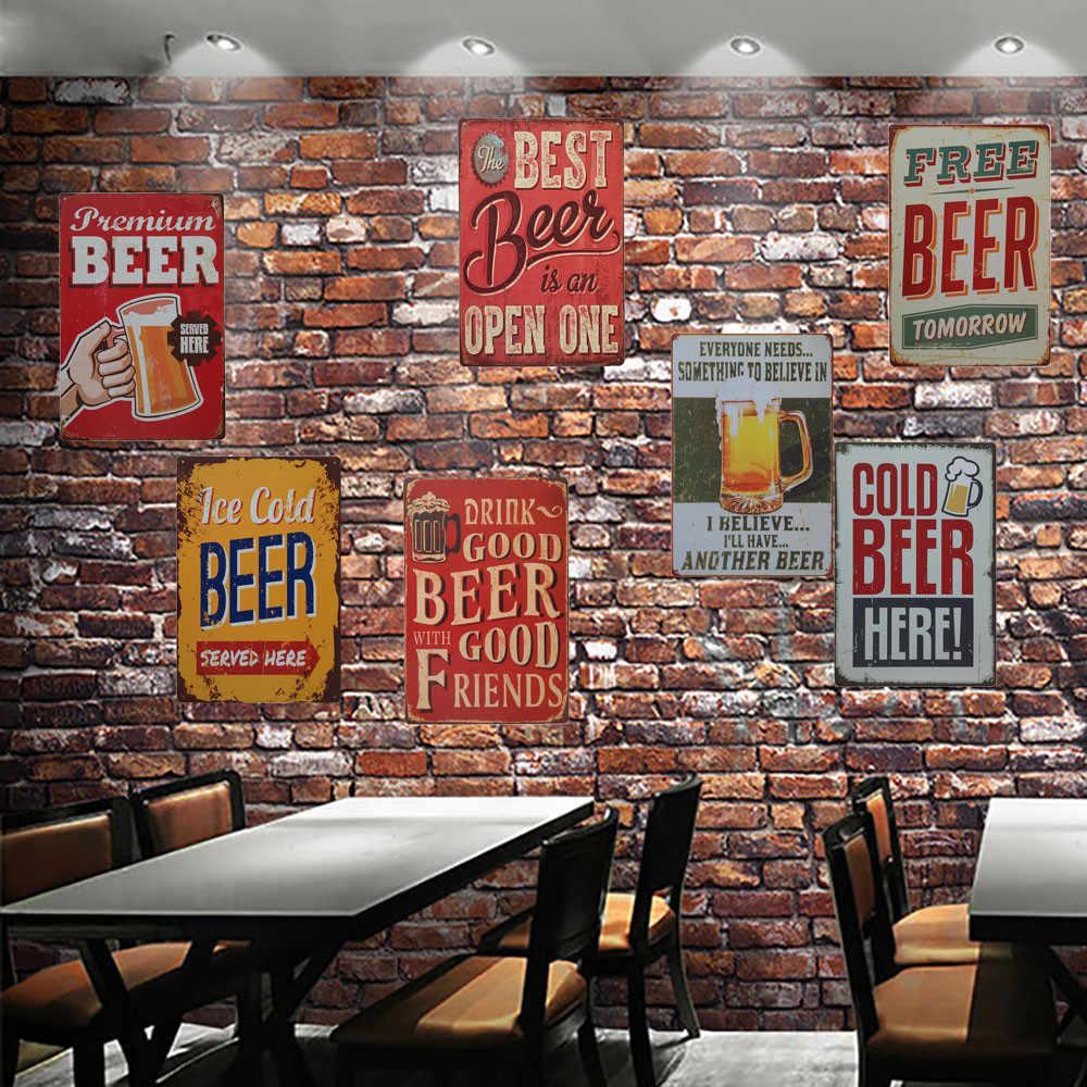 Vintage Metal Tin Sign Poster Plaque Bar Pub Club Home Plate Wall Door Decor