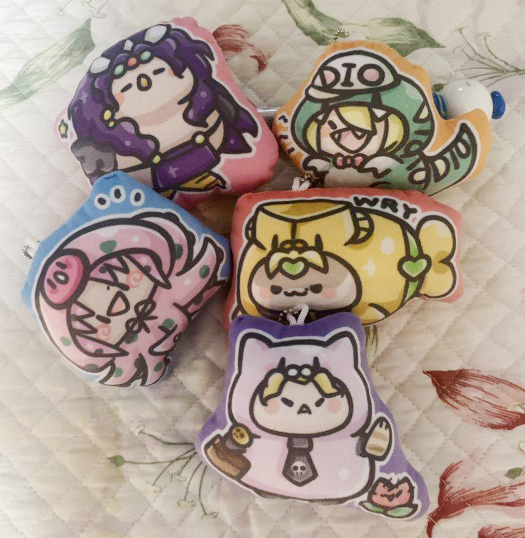 JoJo/'s Bizarre Adventure Caesar  Yoshikage KishibeFabric Keychain Strap Kid Gift