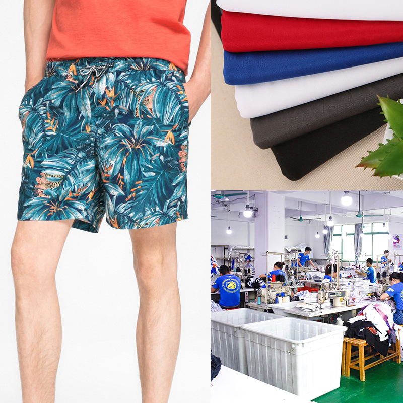 Factory Clothing  New Style Summer Digital Printing Beach Shorts Plans To Sample Small Batch Production Customizable