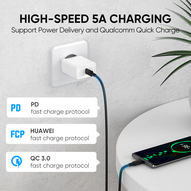 Ugreen 5A USB C to Type C Cable for Macbook Pro PD100W USB 3.1 Gen 2  1