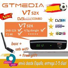 Completo hd gtmedia v7 s2x receptor de satélite DVB-S2 decodificador + usb wifi atualização por gtmedia v7s hd gtmedia v7s2x receptor nenhum aplicativo
