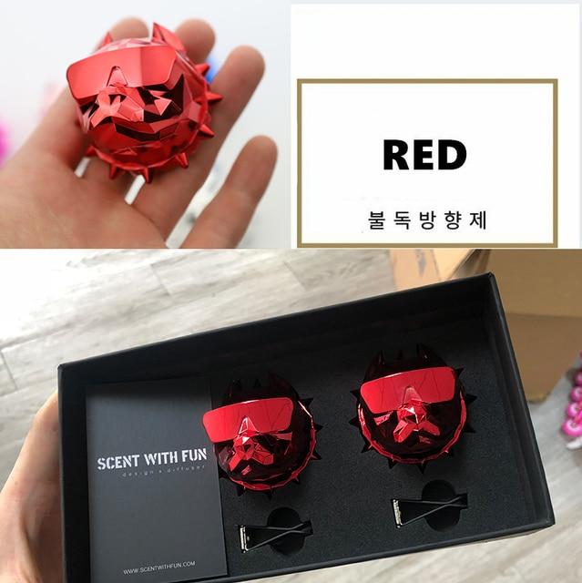 2Pcs Bulldog Car Perfume Fragrance Diffuser air fresheners with Magnet Clip Auto Vents Scent Parfume Gift Box Car Decor 2