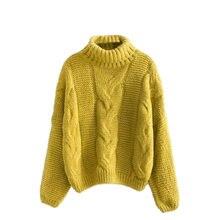 Женский свитер с высоким воротником Осень зима 2020 базовый