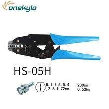 alicate crimpador coaxial HS-05H RG55 RG58 RG59,62, relden 8279,8281,9231,9141 ferramentas de conectores de alicate crimpador coaxial SMA / BNC