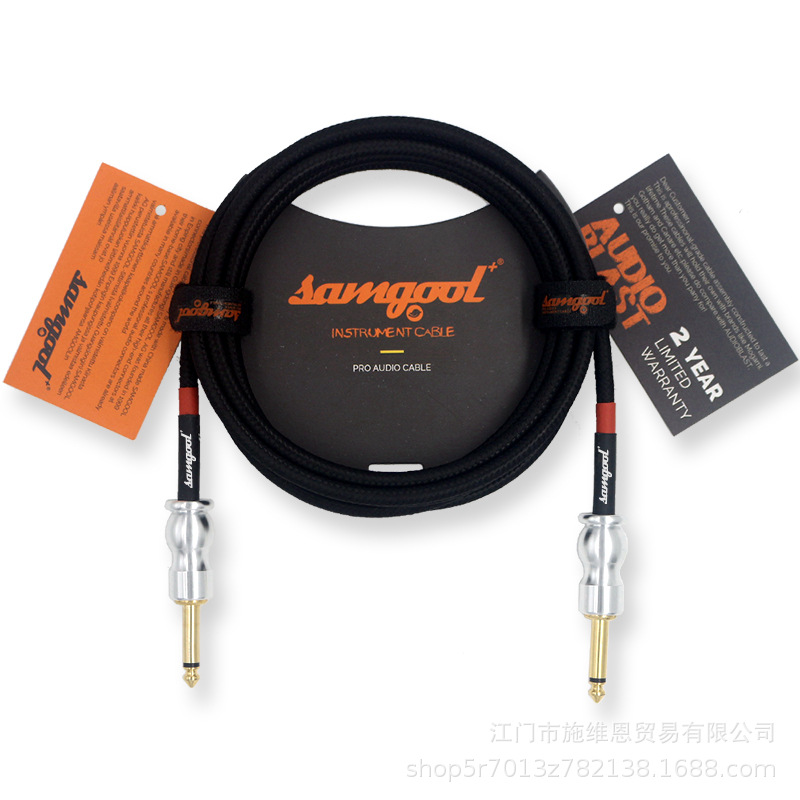 Купить с кэшбэком Samgool+ EG series guitar cable professional grade noise reduction line 6.35 effect wood electric box piano audio cable