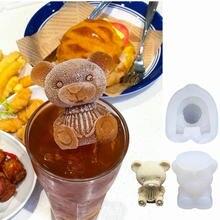3d игрушка Мини силиконовая форма «Медведь» ледяной поднос формы